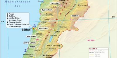 Map of ancient Lebanon