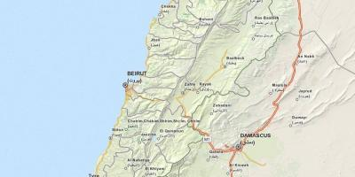Map of gps map Lebanon