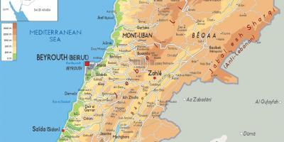 Map of Lebanon physical