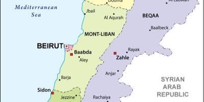 Map of Lebanon political