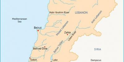 Lebanon rivers map