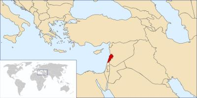 Map of Lebanon world