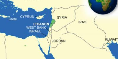 Lebanon on map